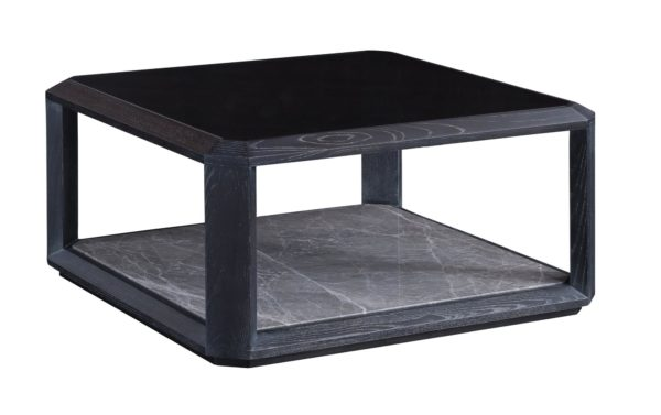 Two Layers Elm Square Coffee Table