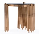 Fausto Rose Gold One Layer Round Side Table Large
