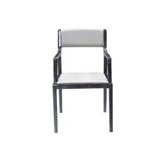 White Faux Leather Elm Chair