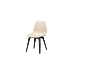 Withe Faux Leather Comfortable Concise Elm Chair