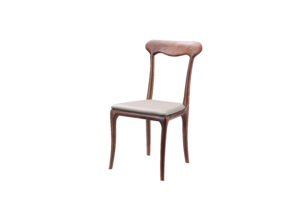 Faux Leather Stylish Walnut Chair