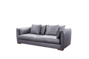 Leatherl 3 seats Dark Grey Sofa