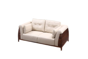 De Luca 2 seats Light Grey Sofa