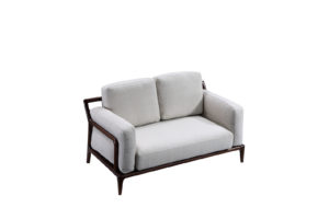Bruni 2 Seats Light Grey Sofa