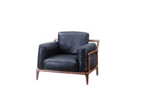 Bruni Black Leather Armchair