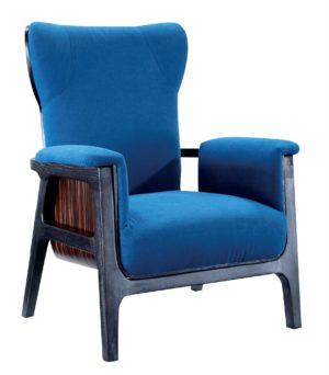 Bruni Artistic Blue Leather Armchair