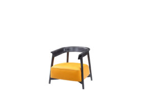 Conti Leather Canary Armchair