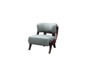 Recliner Leather Grey Armchair