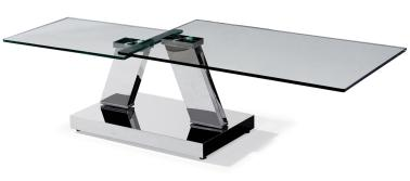 Two Layers Rectangular Glass Coffee Table