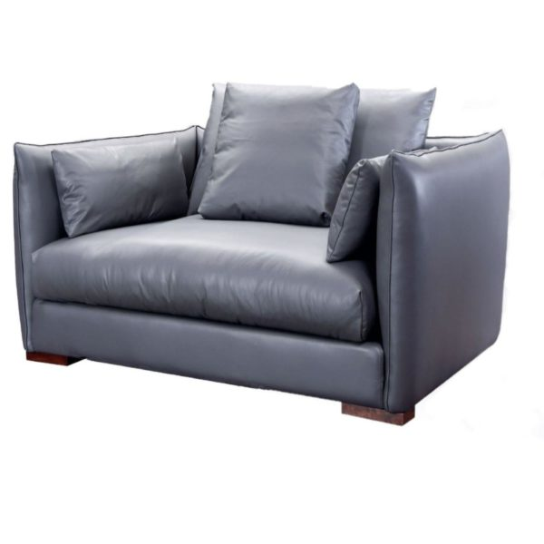 Leather Dark Grey Armchair