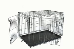 """Large Dog Crate 36"""" With removable ABS Tray-Foldable perfect for Training/Travel"""