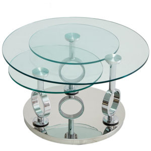 Three Layers Round Glass Coffee Table