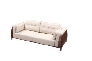 De Luca 3 seats Light Grey Sofa