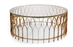 Palisade Style Rose Gold Round Table