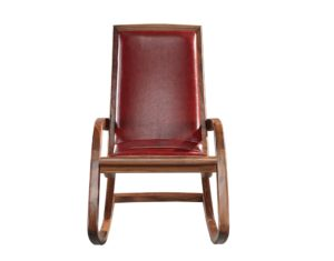 Ruddy Leather Rocking Chair